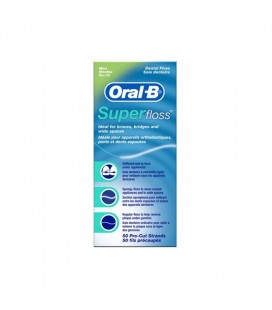 Fil soie dentaire superfloss 68236